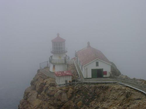 Foggy Point Reyes Lighthouse