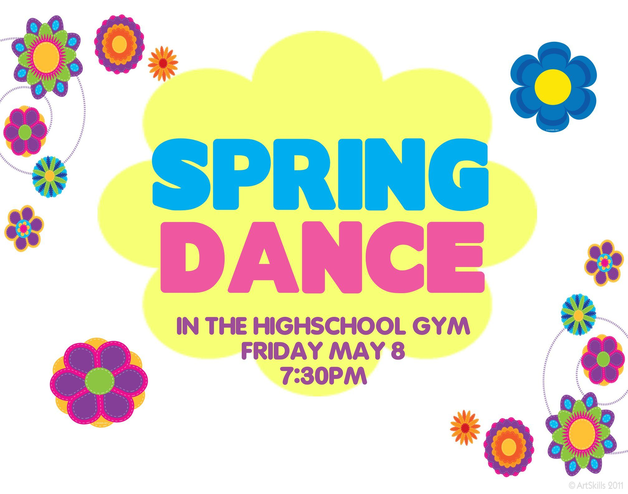 Create a spring dance poster party poster ideas school for Spring dance decorations