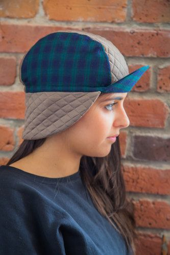 Winter Cycling Cap Tartan   Limited Edition   by ALBERTDEMONTREAL ... 7af5930874c9