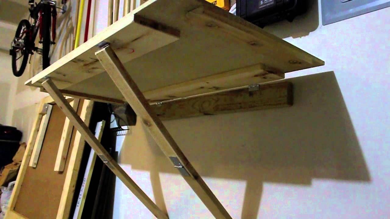 Wall Mounted Workbench Diy Folding Brackets Fold Down Work