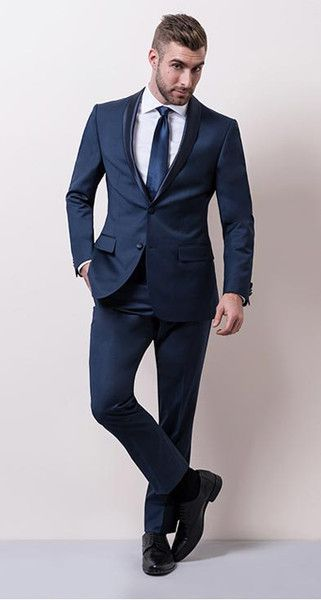 BLACK TIE WITH A TWIST A twist on the classic. Blue is still formal,