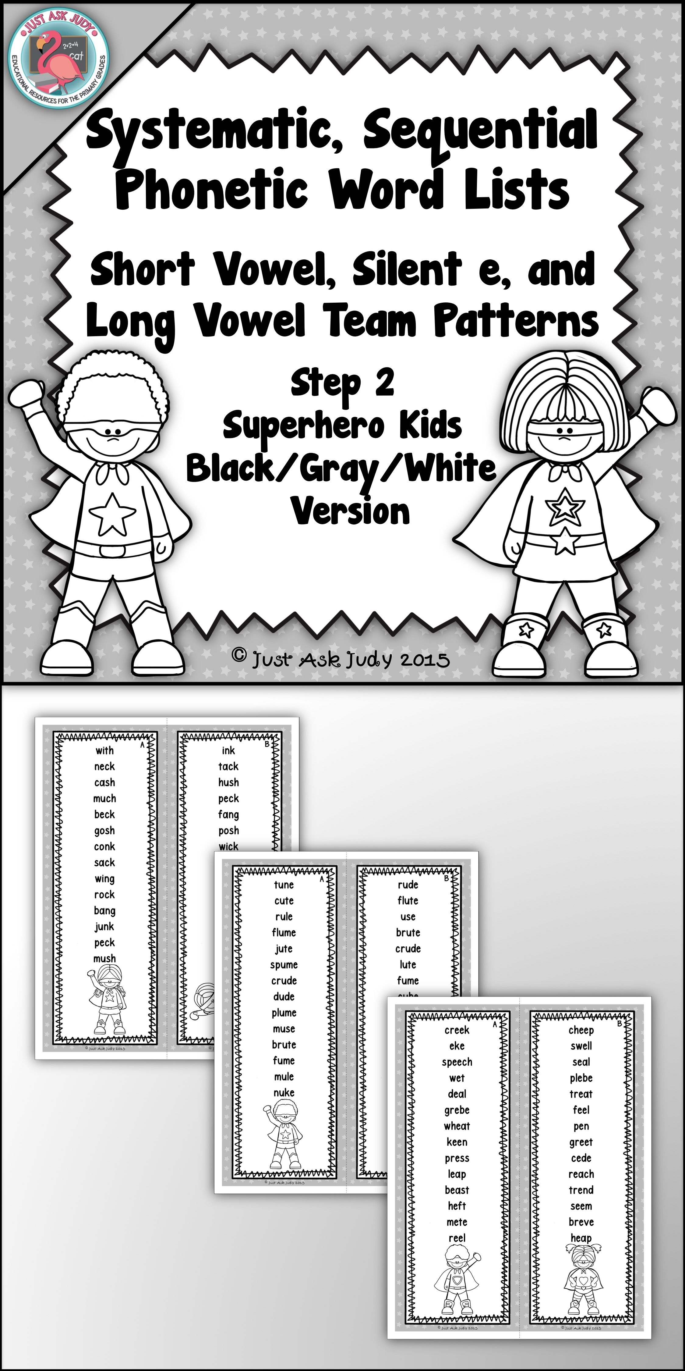 These Easy To Prepare Black Gray White Word Lists With A