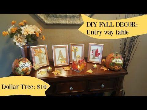 DIY: Fall Home Decor from DOLLAR TREE