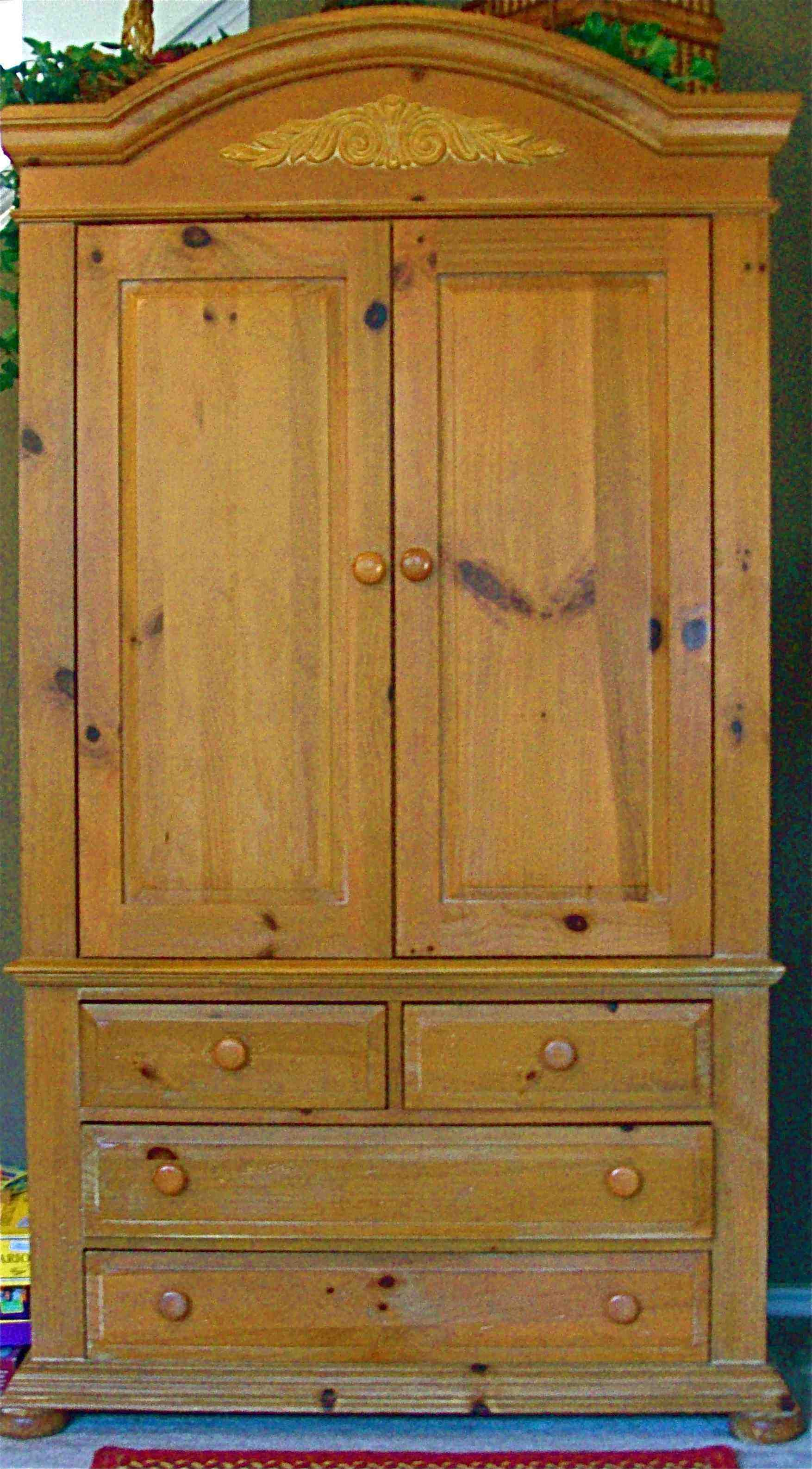 BROYHILL FONTANA TV ARMOIRE In FURNITUREANDMOREu0027s Garage Sale For $300.00.  Solid Pine TV Armoire 2