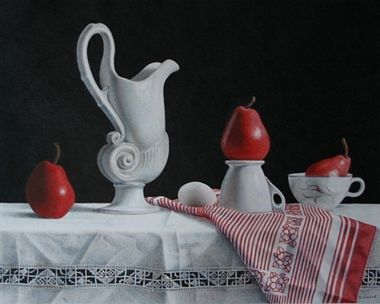 RED PEARS AT PLAY BY SHEILA CANTRELL