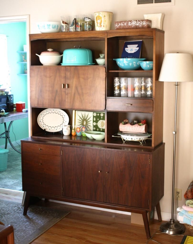 Mint green sewing machine thrifty thursday vol 72 mid century hutch