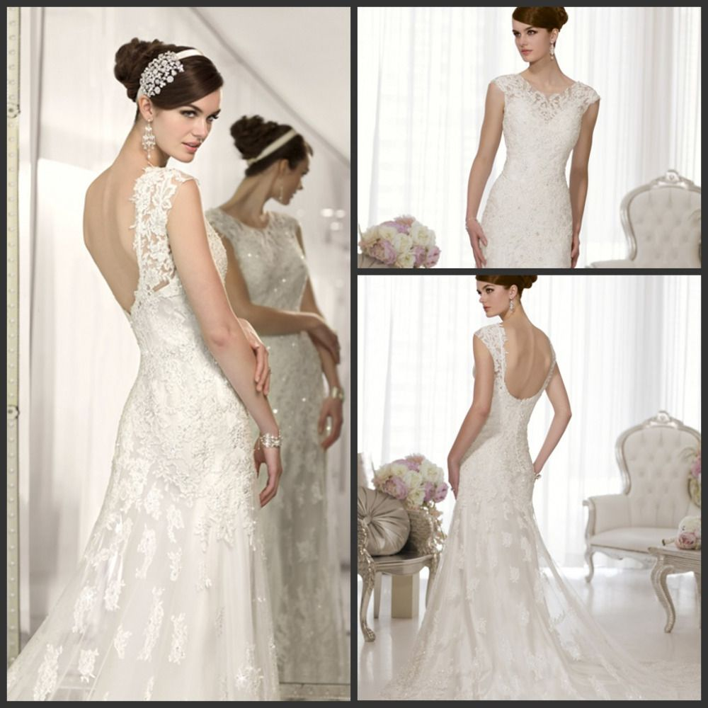 Find More Wedding Dresses Information about The New Designer 2014 Elegant Sheath Spaghetti Straps With A Vintage Inspired Lace Overdress Silky Satin Wedding Dresses China,High Quality design fingernails,China design waistcoat Suppliers, Cheap strap plastic from Kamaliya Dresses on Aliexpress.com