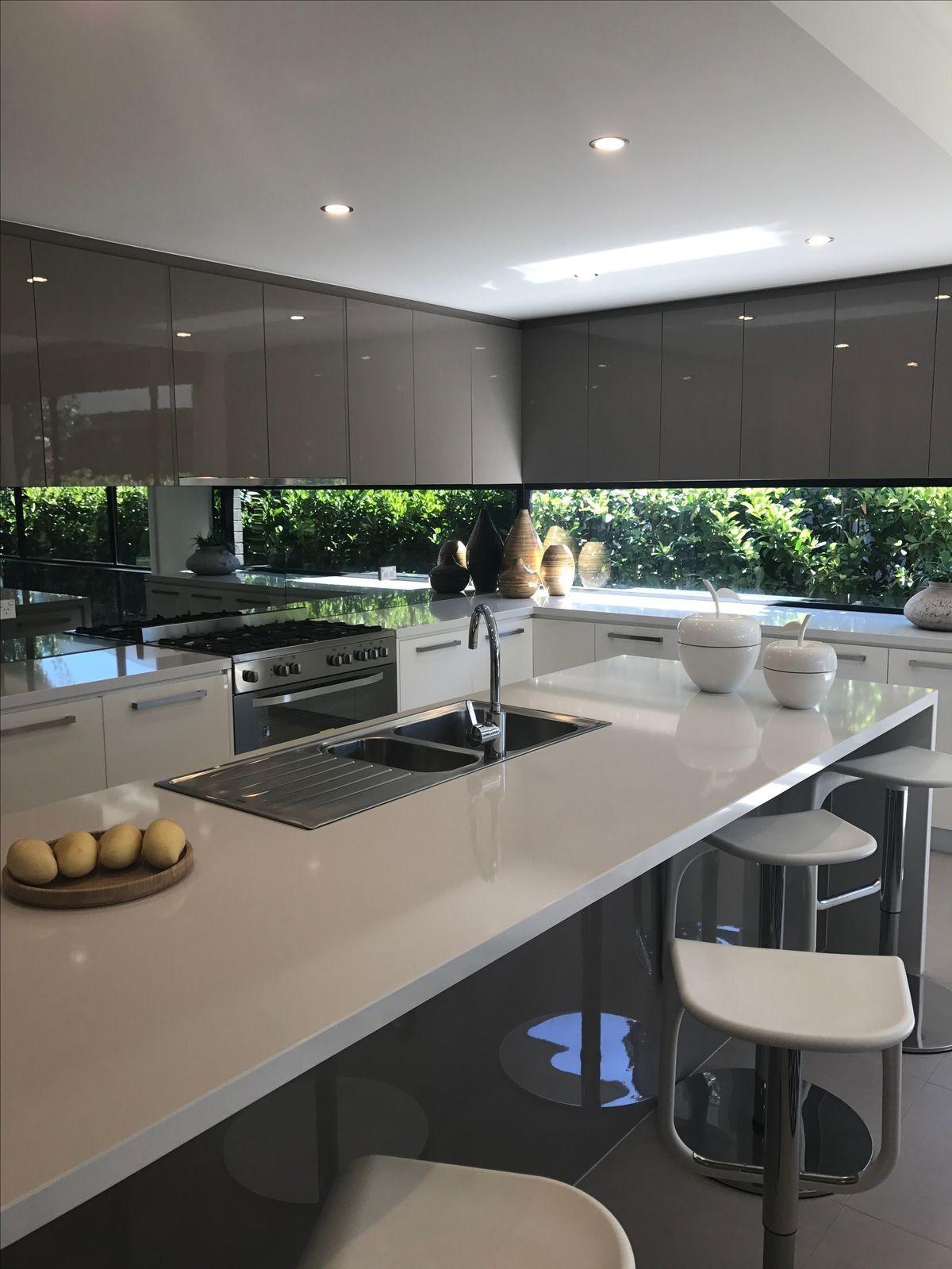 Cocinas Blancas Modernas Con Isla En La Cocina Kitchen Pinterest