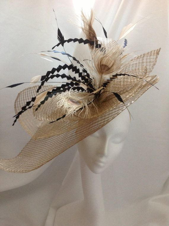 Hatinator   fascinator in gold and black. by BespokeBySteph d8ba0ca3d7b5