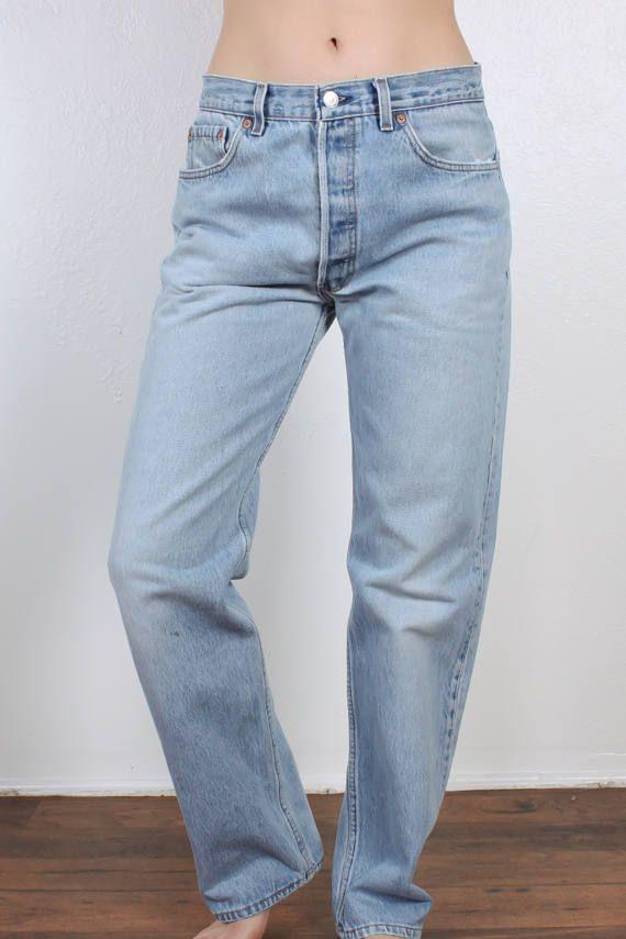 aa6948e1df9 Vintage Levis 501 Jeans // 80s Denim Pants Straight Leg High | Levi ...
