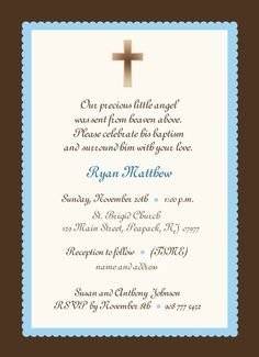 baby boy baptism invitation boy or girl baby boy invitation blue
