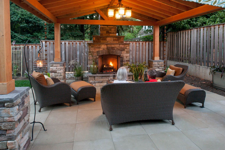 Simple Outdoor Fireplace Design | Outdoor fireplace ... on Simple Outdoor Fireplace Ideas id=38571