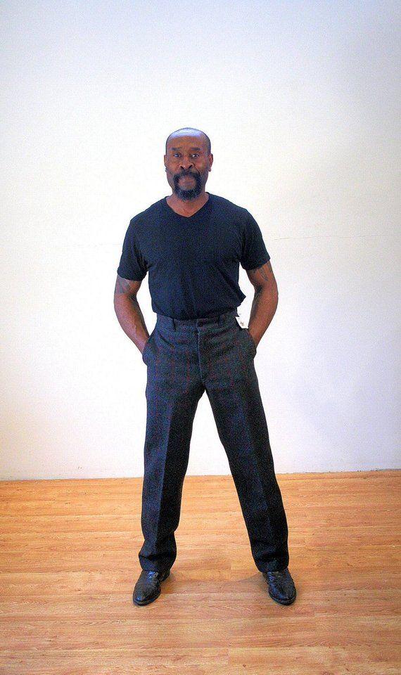 bcecbf3e540b2 80s NOS Johnson Woolen Mills Pants S, Vintage Wool Hunting Pants, Gray & Red  Plaid Trousers, Men's Deadstock Work Wear, Small 29 Waist