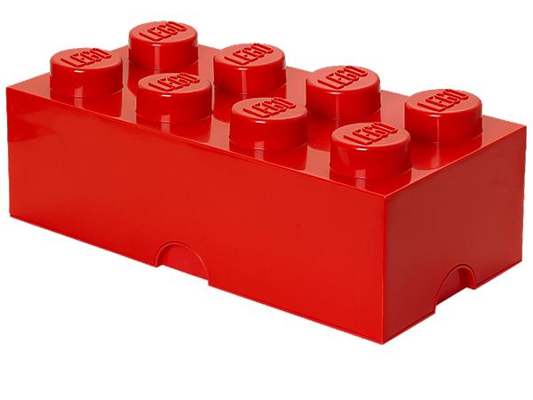 Lego 8 Stud Red Storage Brick Lego Storage Lego Storage Brick Kids Lego Storage