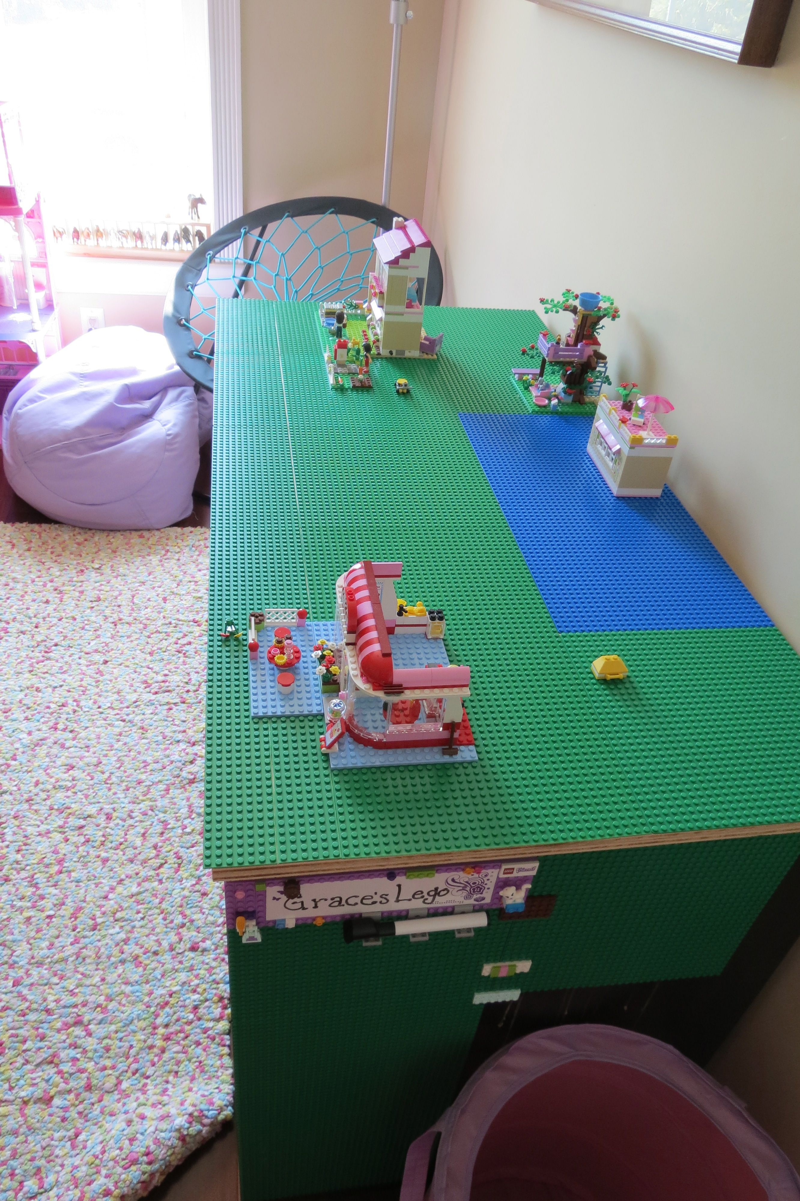 lego table - this is perfect. Must be meant to be as GG's name is already on the side of the table in the picture!