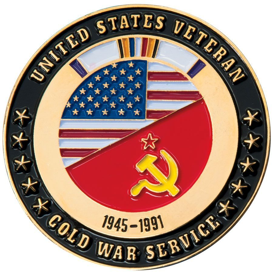Cold War Veteran USA/Soviet Challenge Coin Cold war, War