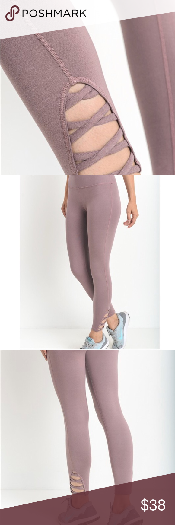 Quinn Criss Cross Legging - Mauve • PRICE DROPPED • These are one of the comfiest leggings I've ever worn.  Loved them so much I decided to bring them in.  Available in Black, Mauve, & Teal Blue.  Modeling size M.  Wearing with my Poppy Active Tank & Emerson Velour Hoodie.  Price firm▪️10% off 2+ items▪️ Pants Leggings