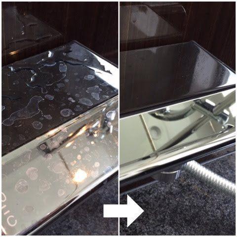家にあるアレで 新品のステンレスの輝きをパパッとget 鏡 掃除