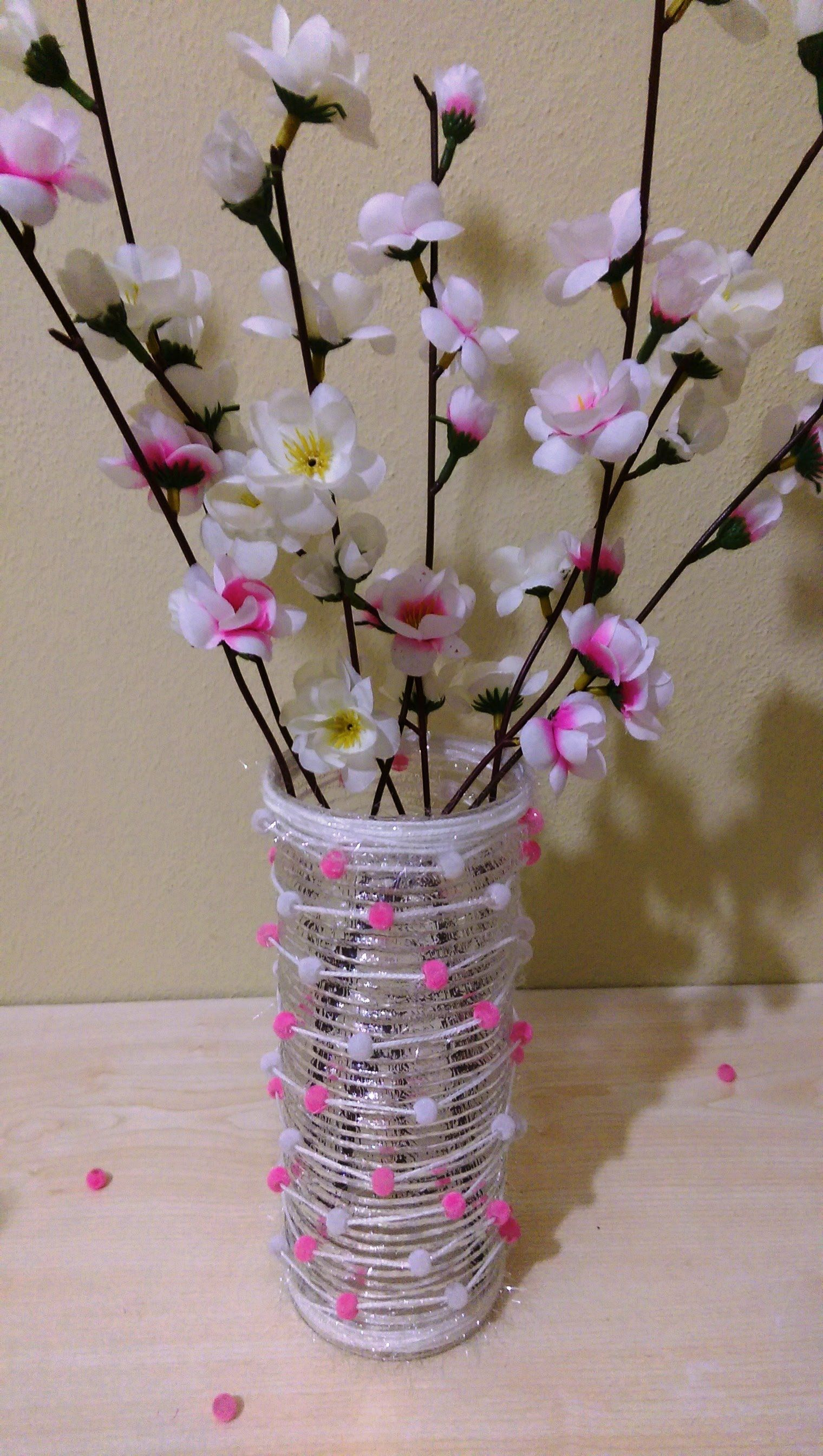 Diy decorating vase with string and beads boncuk ve ple vazo diy decorating vase with string and beads boncuk ve ple vazo ssleme reviewsmspy