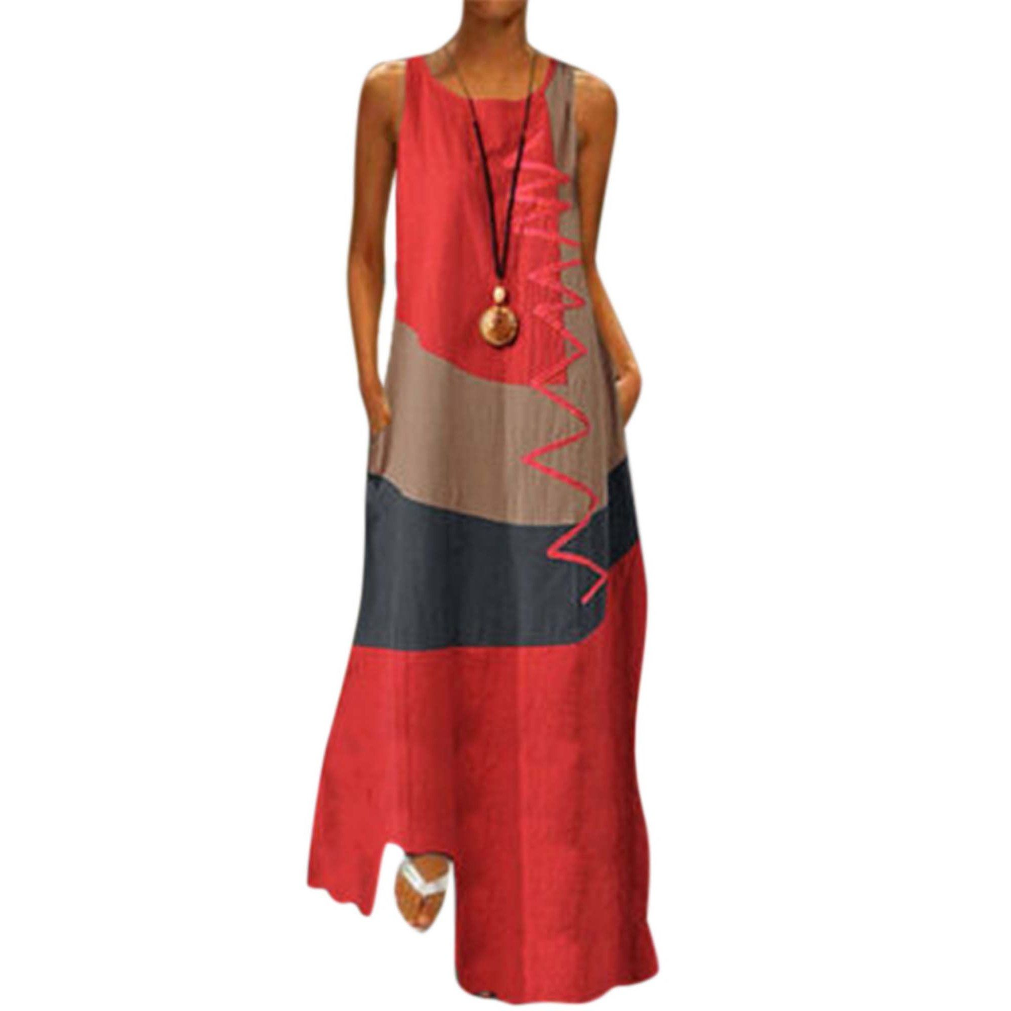 Lallc Women S Vintage Sleeveless Beach Maxi Dresses Plus Size Summer Loose Sundress Walmart Com Plus Size Maxi Dresses Beach Maxi Dress Womens Dress Coats [ 2000 x 2000 Pixel ]
