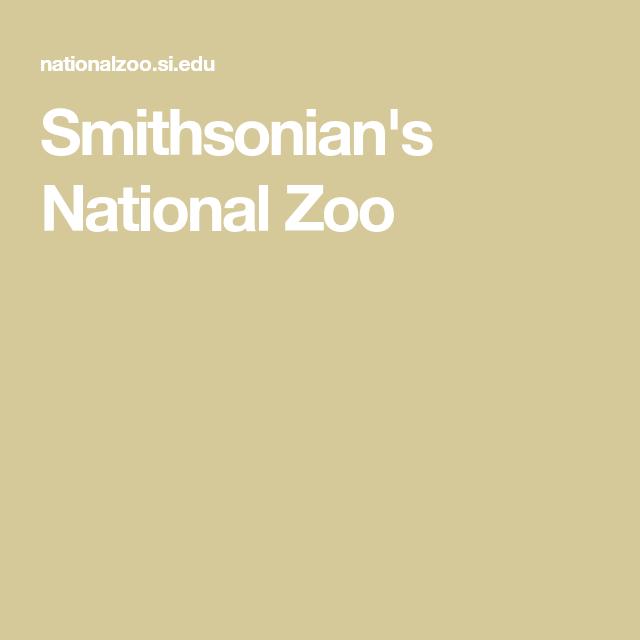 Smithsonian S National Zoo Washington Dc Travel Smithsonian National