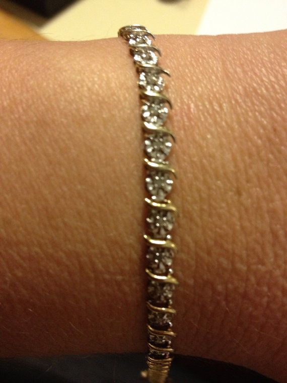 Diamond Tennis Bracelet 10k Gold 5 4 Grams Kay By Bargainbitz Anniversary Jewelry Tennis Bracelet Diamond Diamond