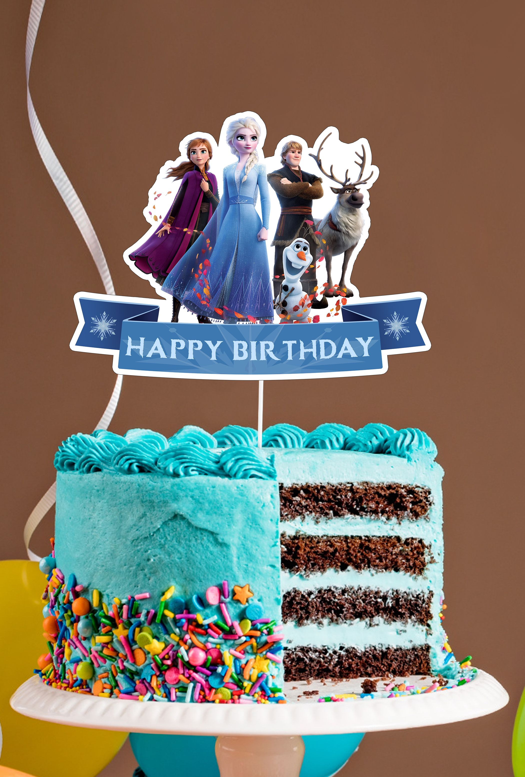 Frozen 2 Cake Toppers Frozen 2 Party Frozen 2 Decoration Kids