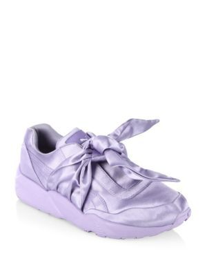 7c45e24647a6 PUMA Fenty Puma X Rihanna Satin Bow Sneakers.  puma  shoes  sneakers ...