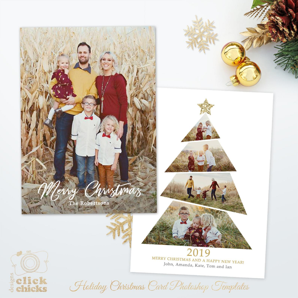 Christmas Card Template For Photographers And Personal Use Christmas Tree Holiday Card Template 5x7 Photo Card Photoshop Template 044 In 2020 Christmas Card Template Diy Photo Christmas Cards Christmas Card Background