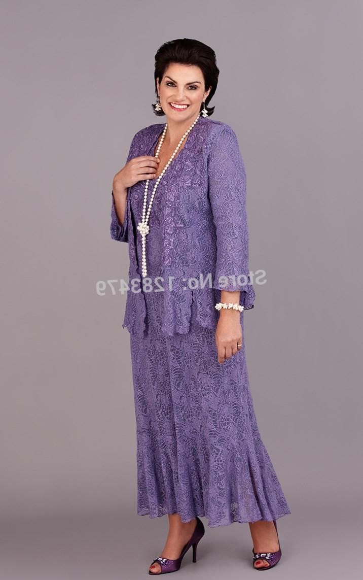 f71ceb669d5 Hot selling Short Tea length Plus Size Mother of the Bride Groom Dresses  With Jacket Long