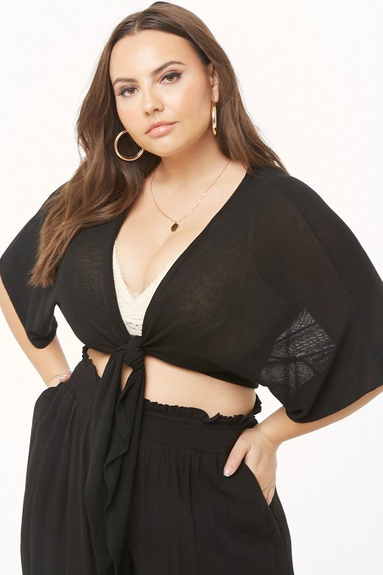 f1eb270a0 Plus Size Tie-Front Top in 2019 | Clothing | Tops, Plus size tops ...