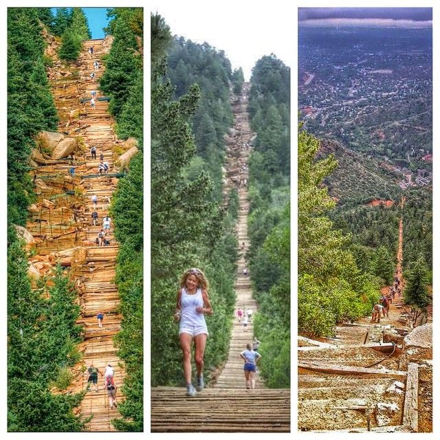 "Colorado Elevation: ""The Manitou Incline Hiking Trail Near Colorado Springs"
