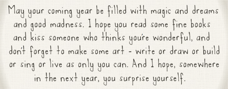 Happy New Years Eve Goodbye 2011 Hello 2012 Quote From Neil