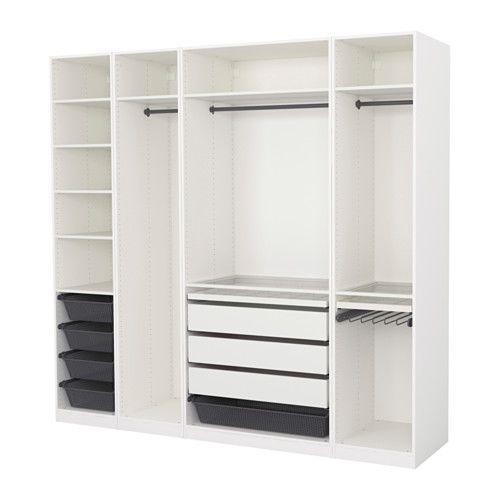 ikea pax kleiderschrank 250x58x236 cm inklusive 10. Black Bedroom Furniture Sets. Home Design Ideas