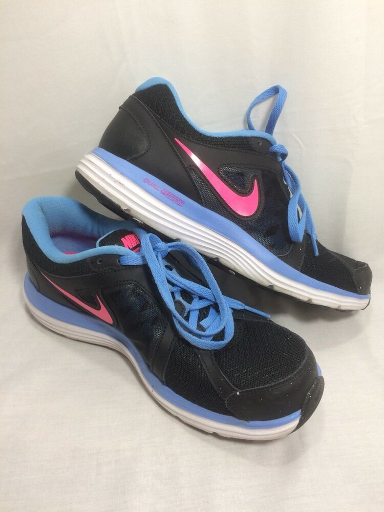 huge selection of 58772 52d23 Nike Dual Fusion ST3 Women s Black w  Blue Trim w  Pink Swoosh Size 8  657498-003  fashion  clothing  shoes  accessories  womensshoes   athleticshoes (ebay ...