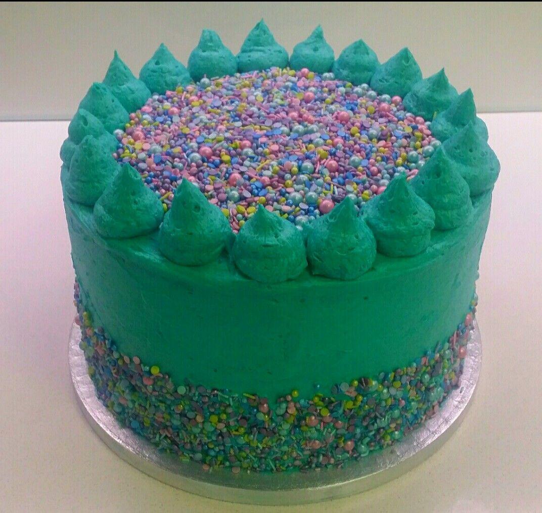 Aqua Sprinkle Girls 9th Birthday Cake Parties Pinterest