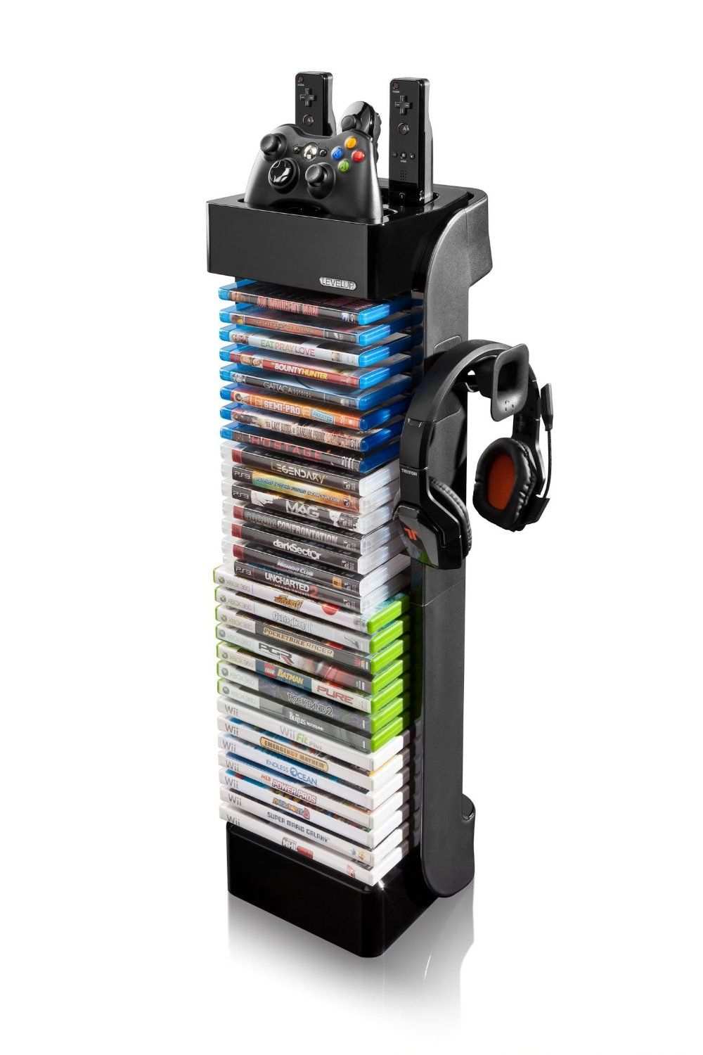 Lovely Amazon.com: LevelUp Controller Universal Storage Tower With Headset Holder: Video  Games