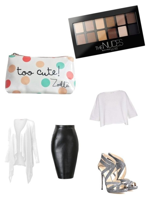 """Girls just want to have fun"" by dressed-to-the-9s on Polyvore featuring Maybelline, J.TOMSON, Helmut Lang, Jimmy Choo, women's clothing, women, female, woman, misses and juniors"