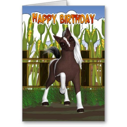 Pony Birthday Card - Birthday Card With Cute Pony
