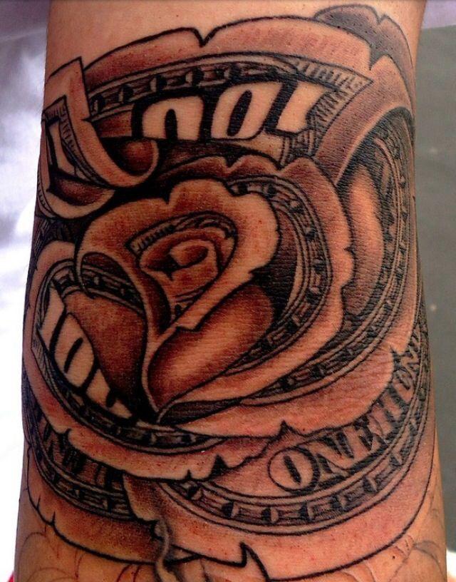 7581e393c $100 bill rose tattoo | Tattoos | Rose tattoos, Tattoo bills, Tattoos