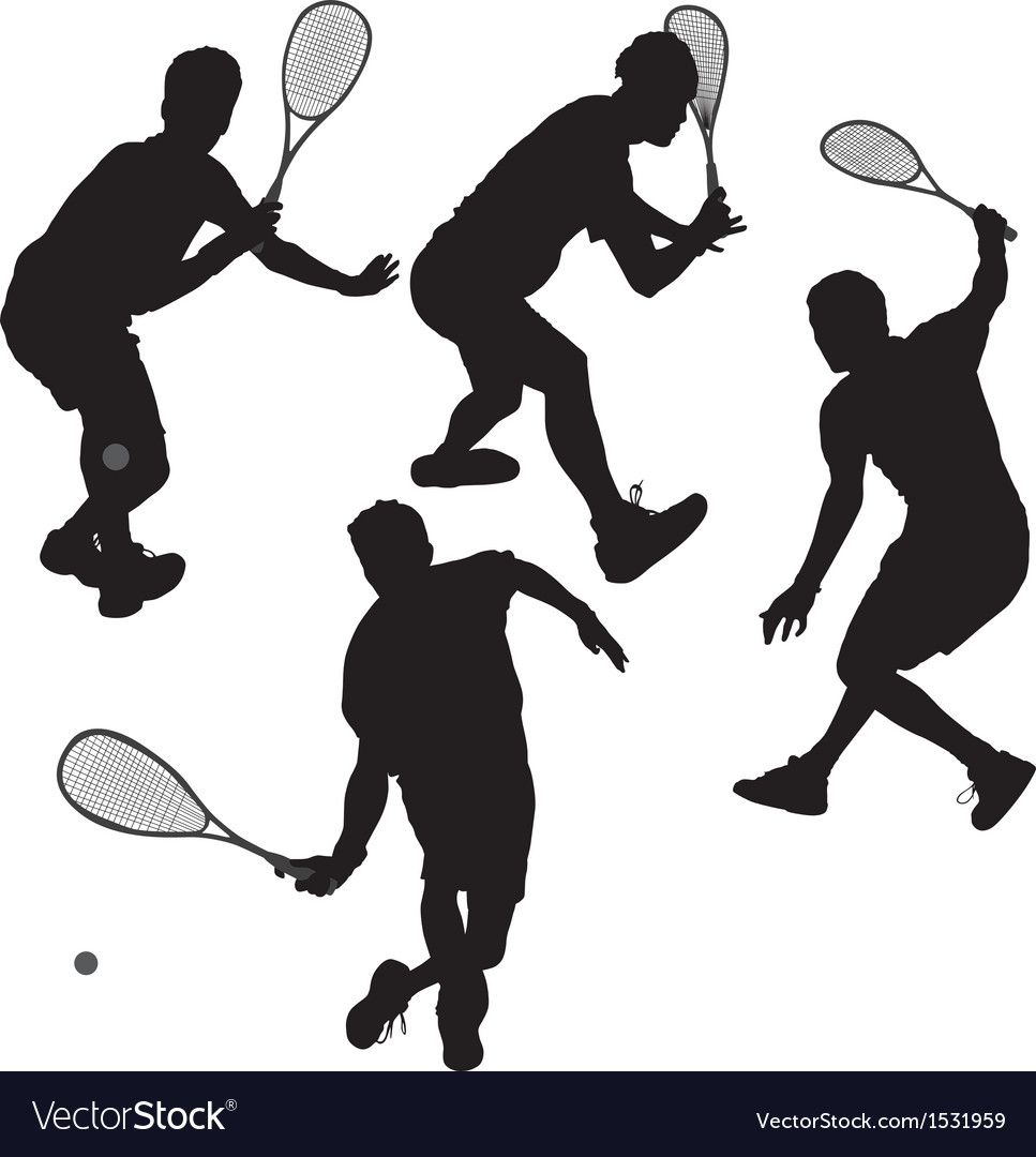 Squash Players Silhouette On White Background Download A Free Preview Or High Quality Adobe Illustrator A Silhouette Vector Fish Silhouette Soldier Silhouette