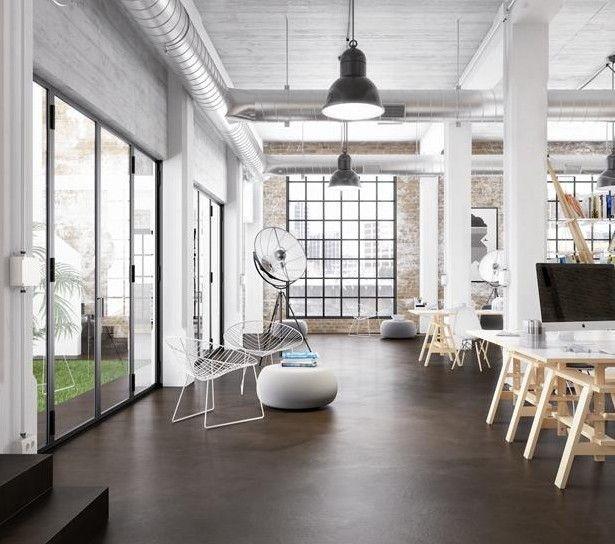 Estrich Der Fussboden Im Industrial Style Studio Loft Flooring