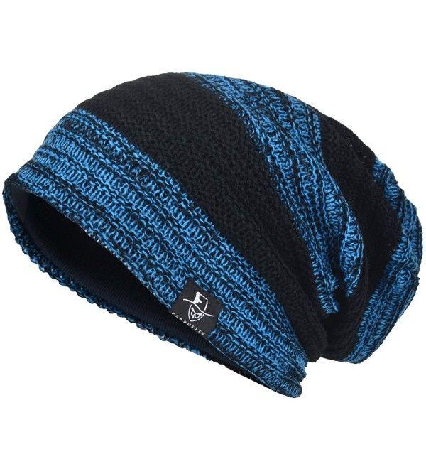 9468f4b3 Men's Cool Cotton Beanie Slouch Skull Cap Long Baggy Hip-Hop Winter ...
