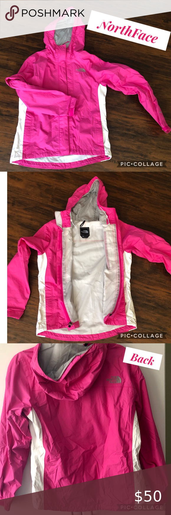 Hp Hot Pink White Northface Jacket North Face Jacket Womens Black Jacket Hot Pink White [ 1740 x 580 Pixel ]