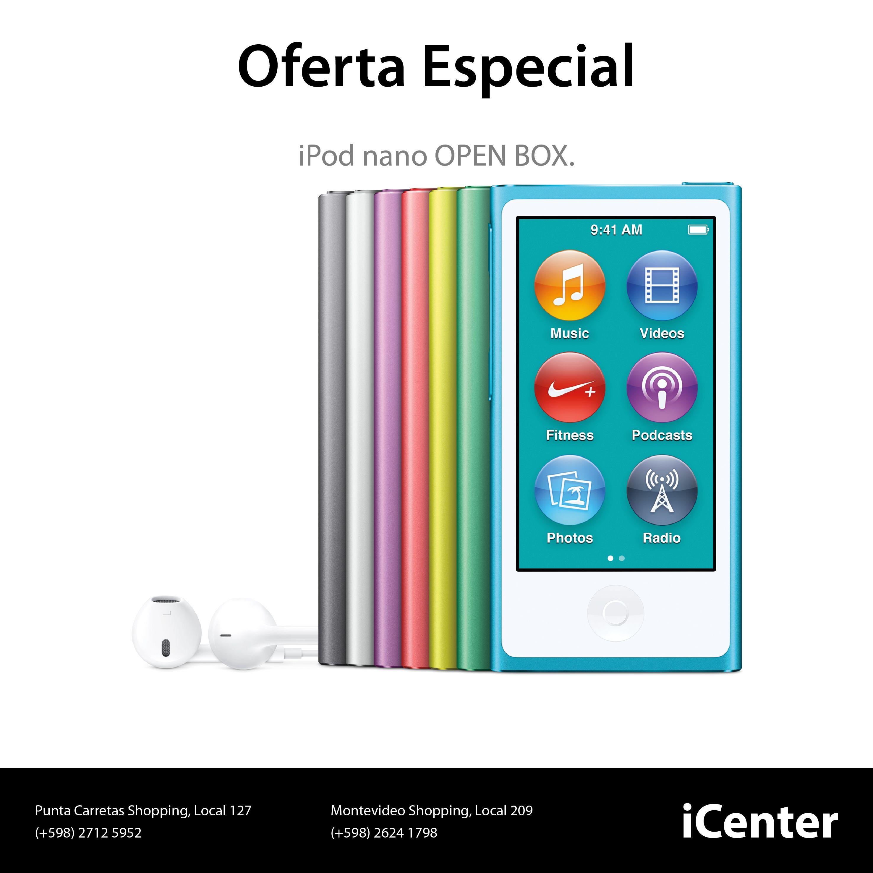 Oferta Especial. iPod nano Open Box. iPod nano de 7