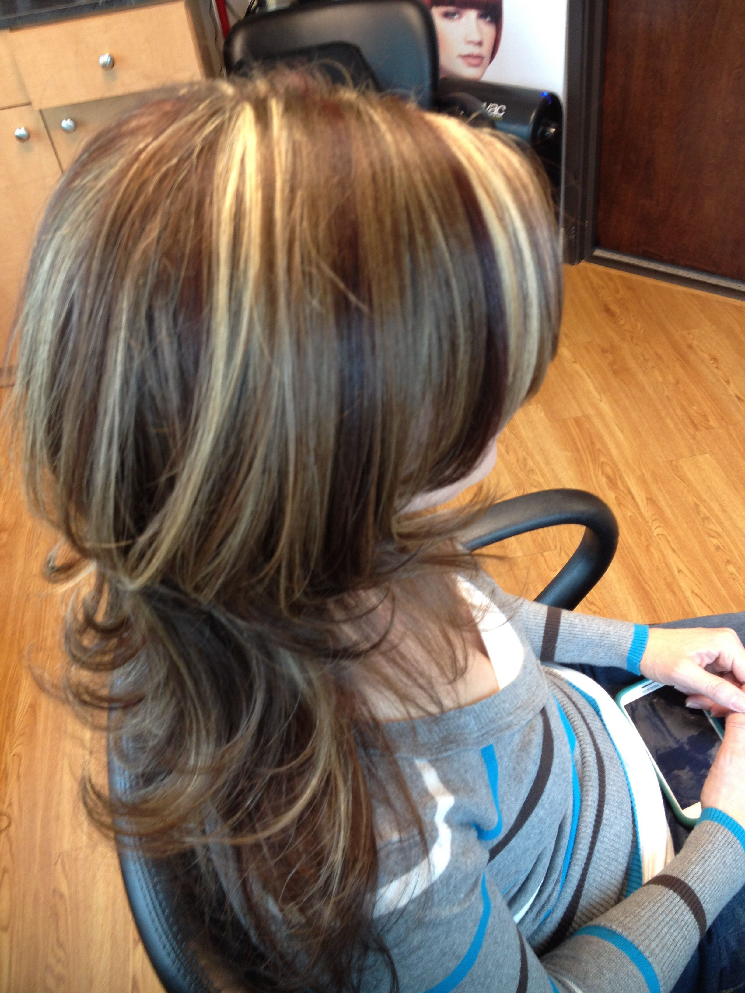 Highlights lowlights light brown hair with layers