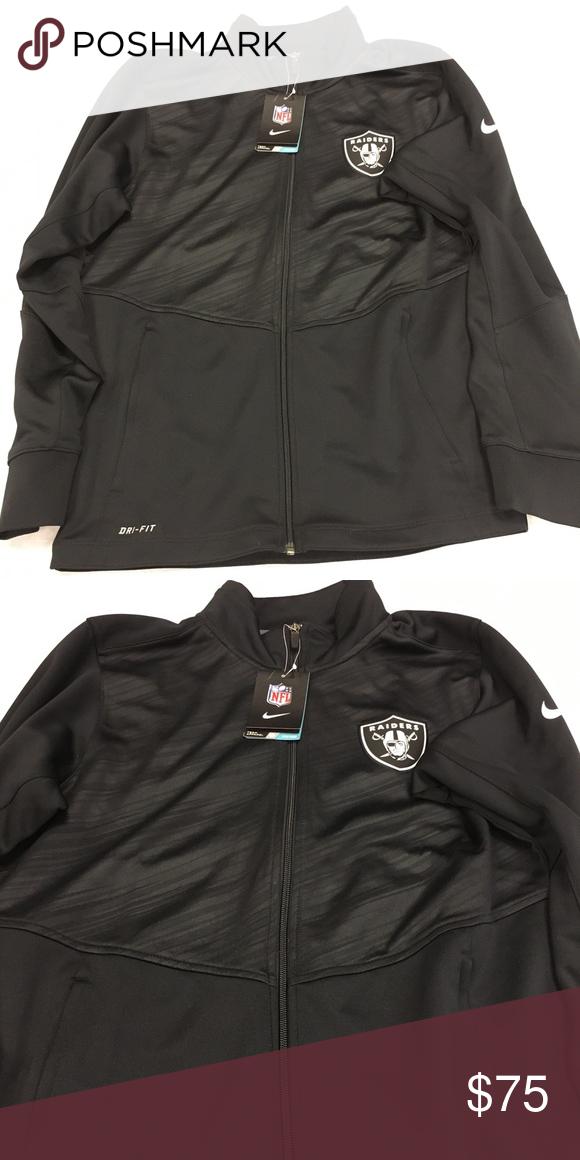 frische Stile exklusives Sortiment neu kaufen Oakland Raiders Nike Dri-Fit Full Zip Warp Jacket Oakland ...