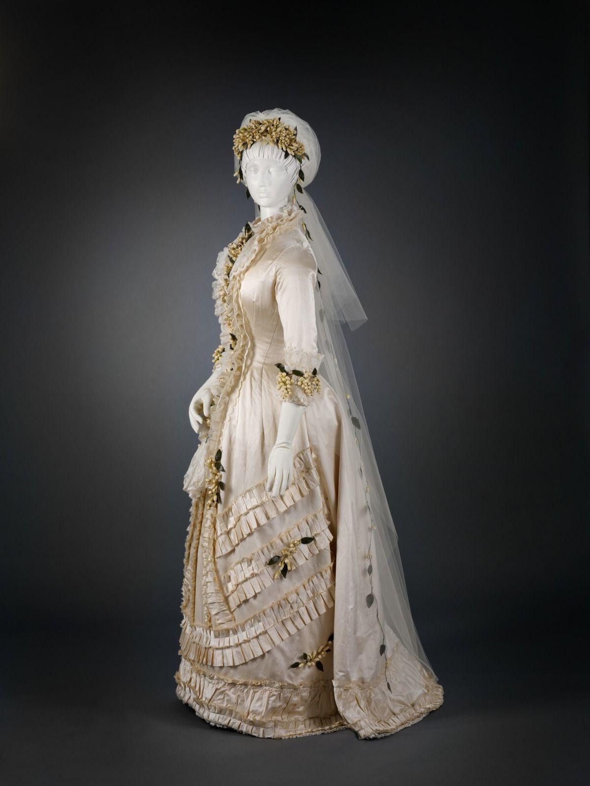 Fashions From History 1879 Wedding dress. Cincinnati
