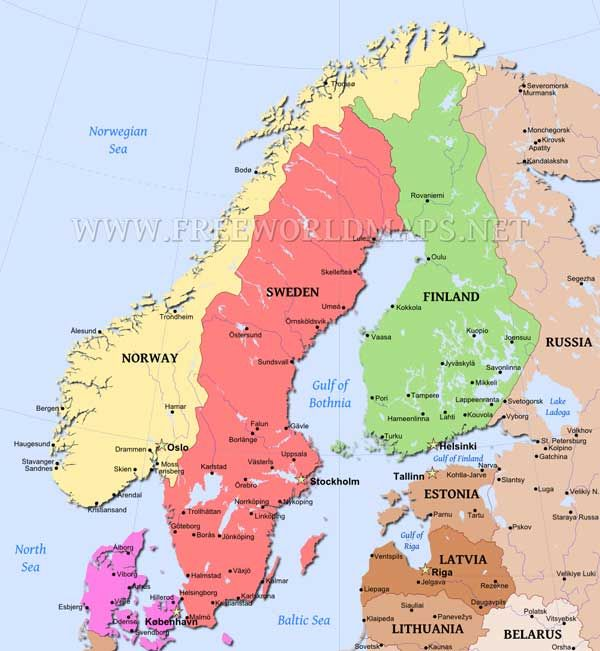Scandinavia Map Scandinavia Europe Map Map