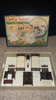 Vintage Renwal Jolly Twins Plastic Dollhouse Furniture Bath Room